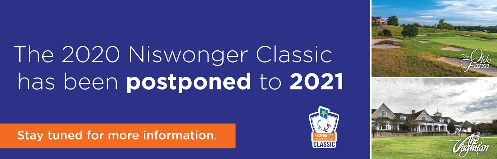 The 2020 Niswonger Classic has been postponed to 2021